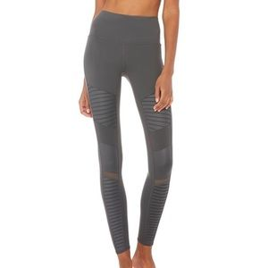 Alo yoga High-waist Moto legging Anthracite (S)